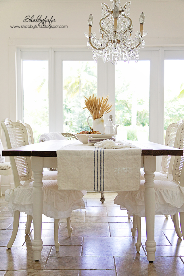 My Dining Rooms Fall Vignettes Table Scape With White Linens