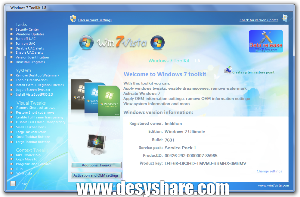 Windows 7 ToolKit 1.8