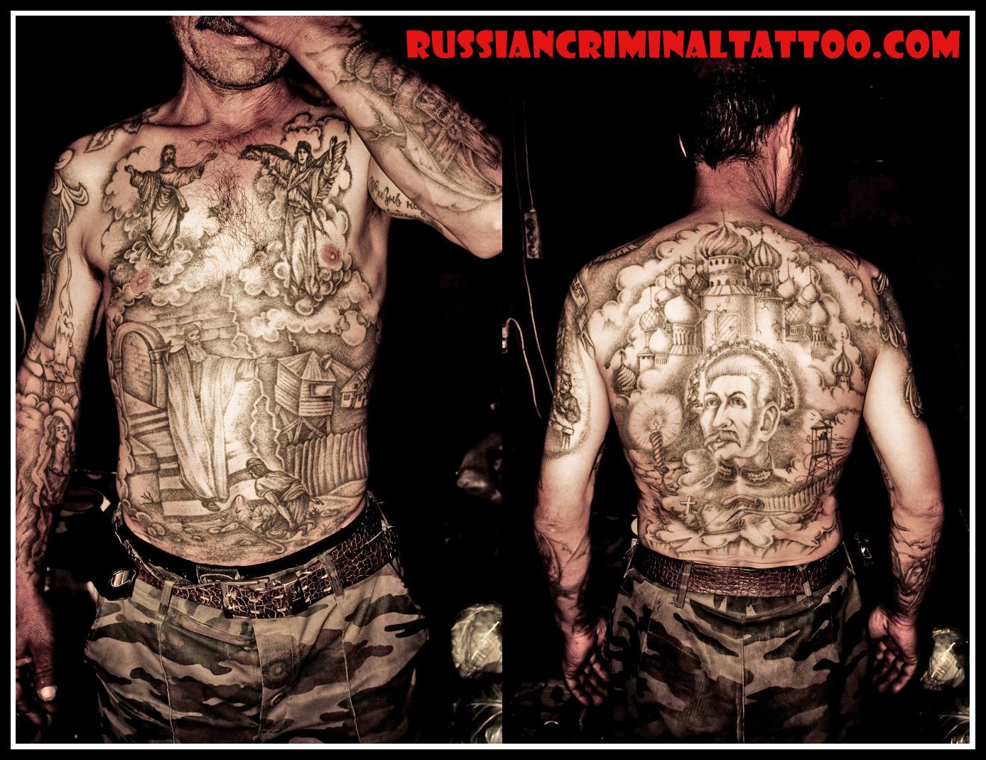 Stalin tattoo for Russian mafia tattoos