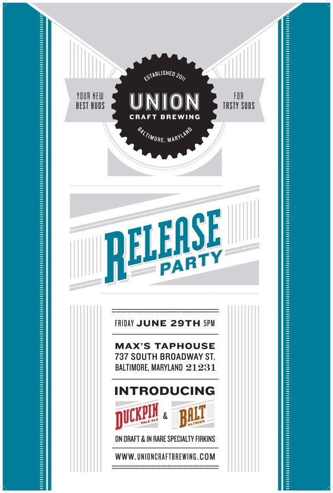 Beer in baltimore union craft brewing debut june 29th at for Union craft brewing baltimore md