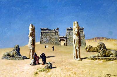 Ruinas del Egipto faraónico (cuadro)