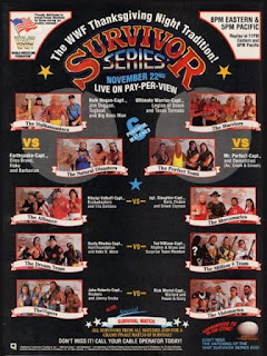 WWF (WWE) SURVIVOR SERIES 1990 - Event poster