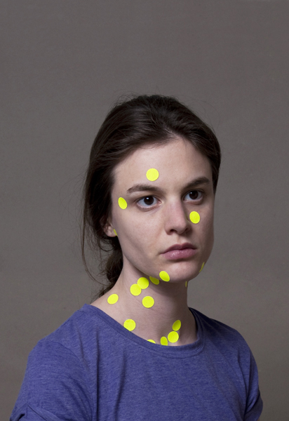 Portrait with yellow points