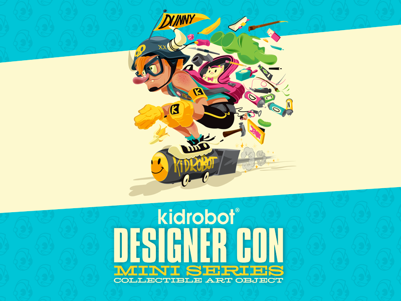Brand New Julius Bunny Pink Kidrobot Designer Con Dunny Series DCON