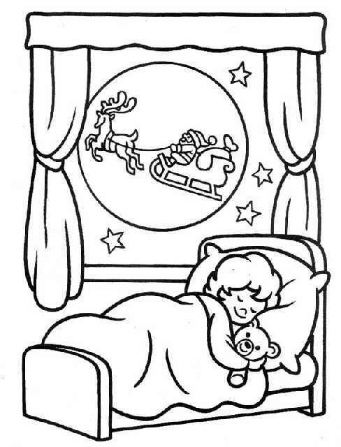 Dibujos para colorear niño durmiendo - Imagui