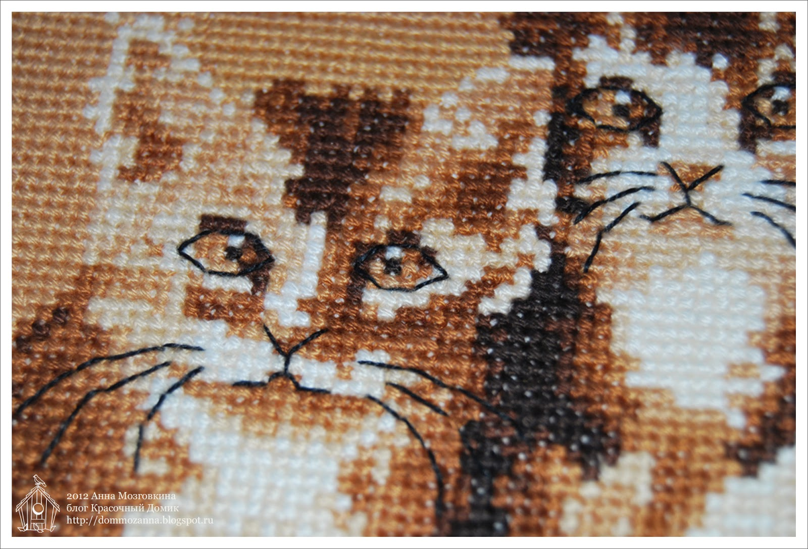 DMC три котенка вышивка крестом