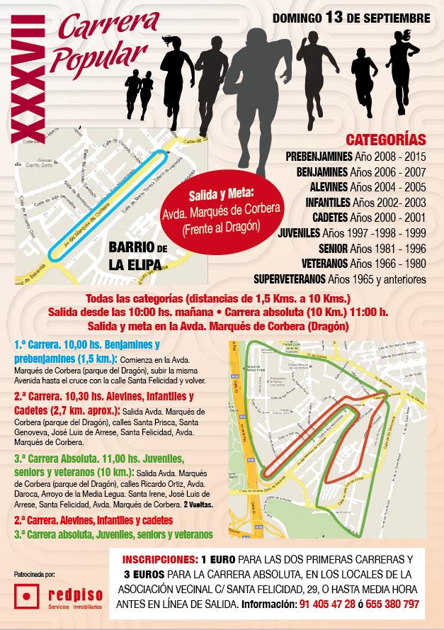 XXXVII CARRERA POPULAR FIESTAS DE LA ELIPA 2014