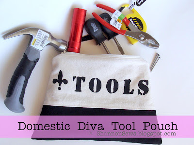How to sew a lined zipper pouch for tools