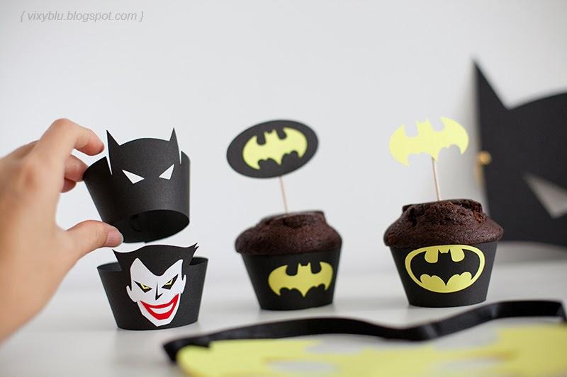 stegulete prajituri batman, cupcake batman, petreceri personalizate