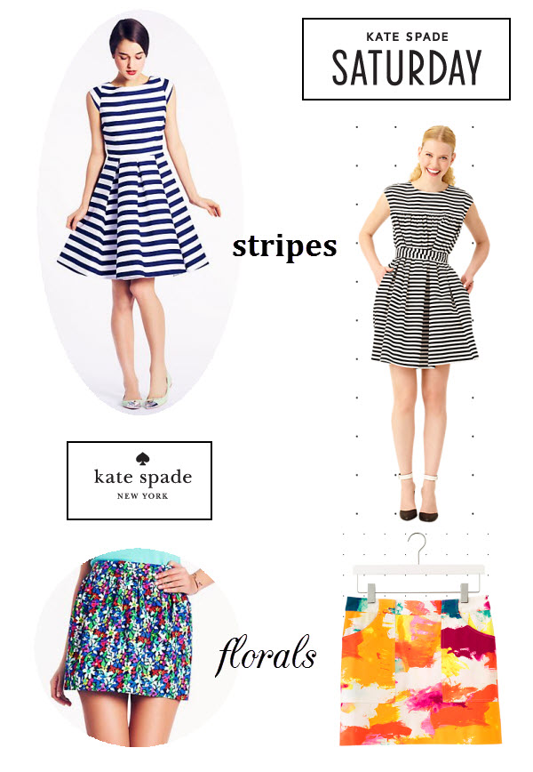 Kate Spade, Kate Spade Saturday, Saturday launch, striped dress, floral skirt