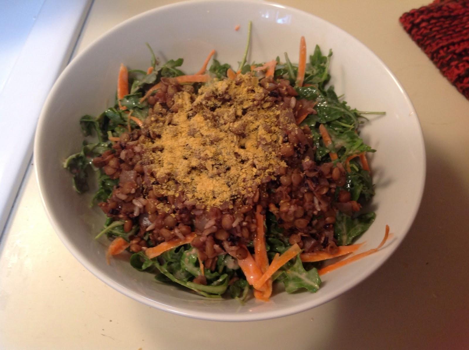 Amy's Nutritarian Kitchen: Dr. Fuhrman's Warm Lentil Salad
