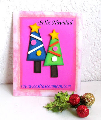 Manualidades tarjeta navide a para regalar cositasconmesh - Manualidades tarjeta navidena ...