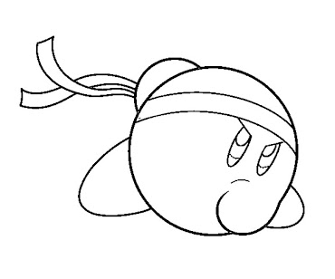 #4 Kirby Coloring Page