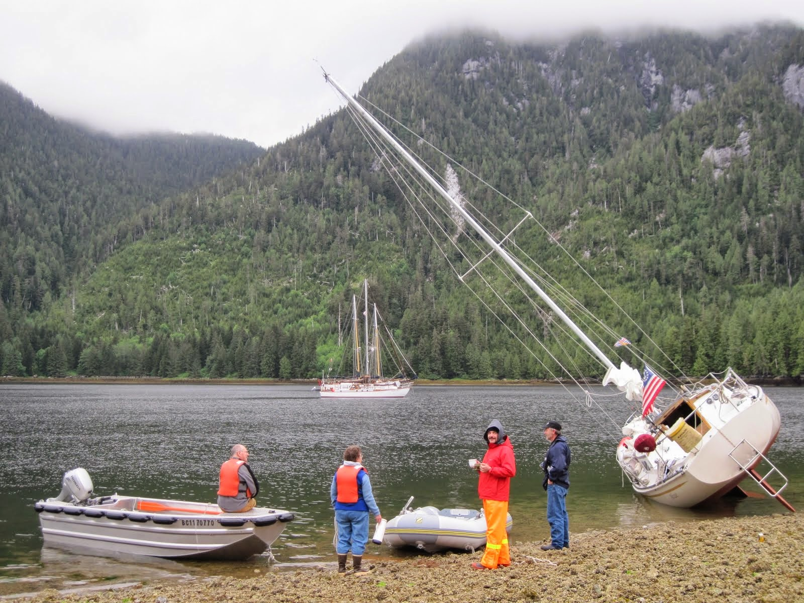 sailboat beached in Canada