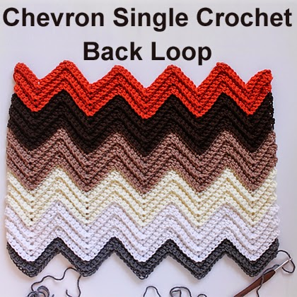 Chevron Single Crochet in the Back Loop Tutorial