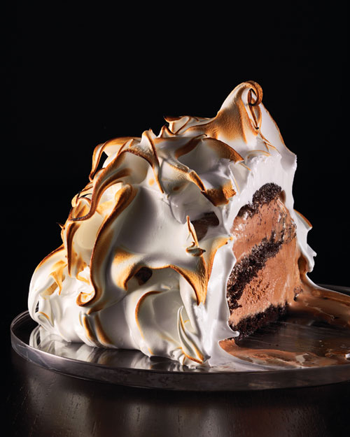 Baked Alaska with Chocolate Ice Cream by Martha Stewart