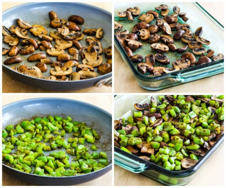 Low-Carb Mushroom, Green Pepper, and Feta Breakfast Casserole found on ...