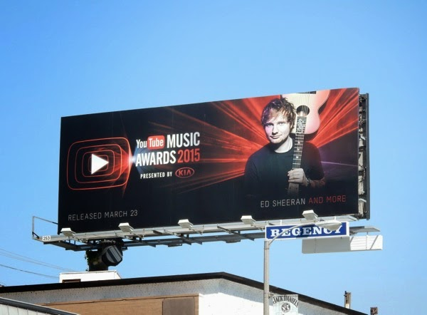Ed Sheeran YouTube Music Awards 2015 billboard
