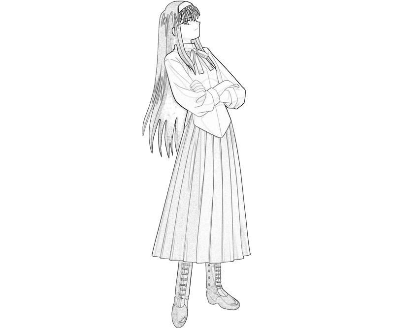 akiha-tohno-look-coloring-pages