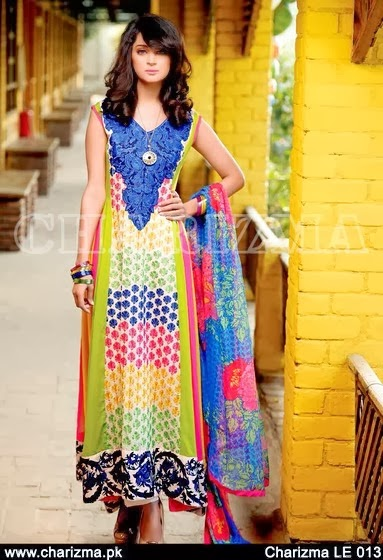 Colorful Printed & Embroidered Lawn