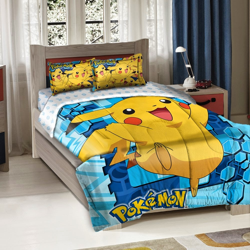 Bedroom decor ideas and designs pokemon themed bedroom for Bedroom decor sets
