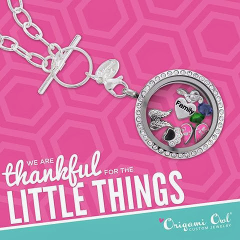 We Are Thankful Origami Owl Living Locket | Shop StoriedCharms.com