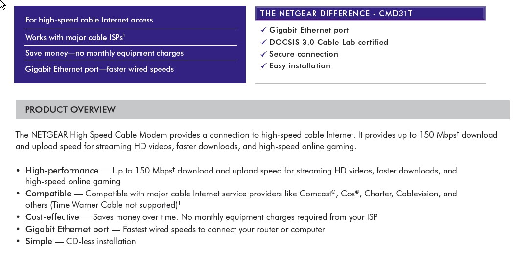 we checked netgear u0026 39 s documentation on the modem  and found