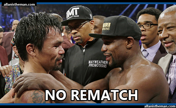 Floyd Mayweather Jr. insists: No Manny Pacquiao rematch