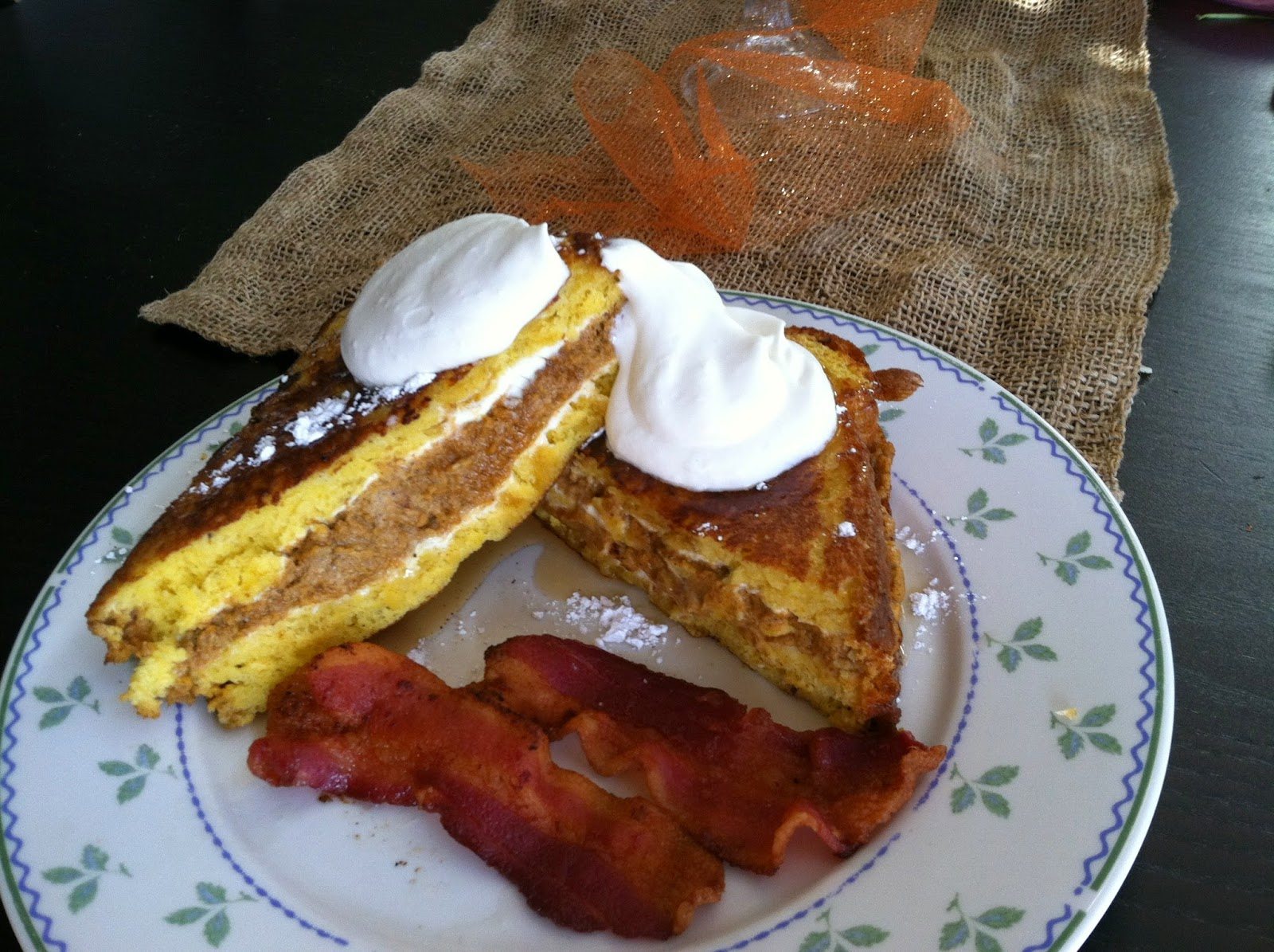 Lindsey's Kitchen: Pumpkin Cream Cheese Stuffed French Toast
