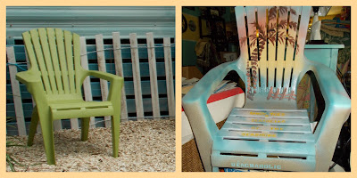 painted adirondack chair