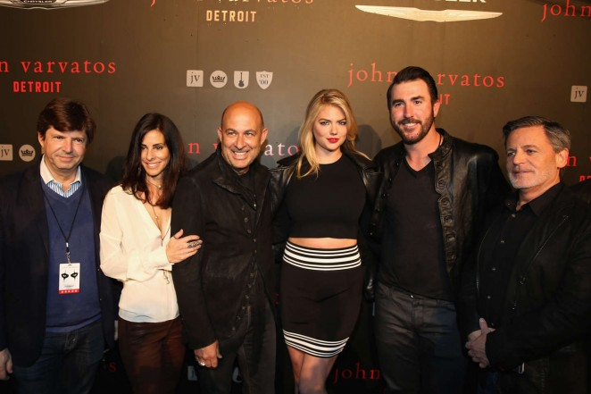 Kate Upton with her boyfriend at the John Varvatos Detroit Store opening