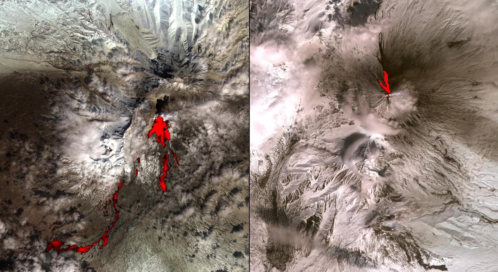 Вулканы мира  фотографии извержений
