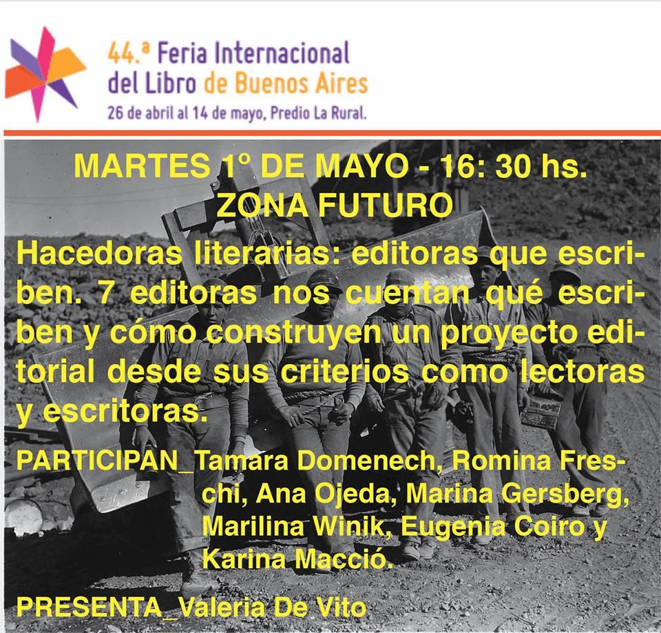 Zona Futuro. Feria del Libro. 2018.