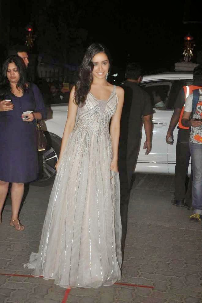 Shraddha Kapoor Latest Images In White Gown Dresses