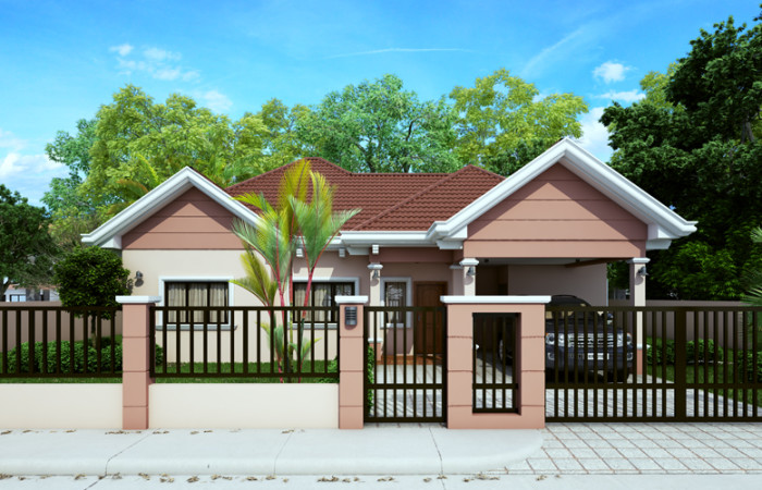 Free estimate of small bungalow house bahay ofw for House garage design philippines