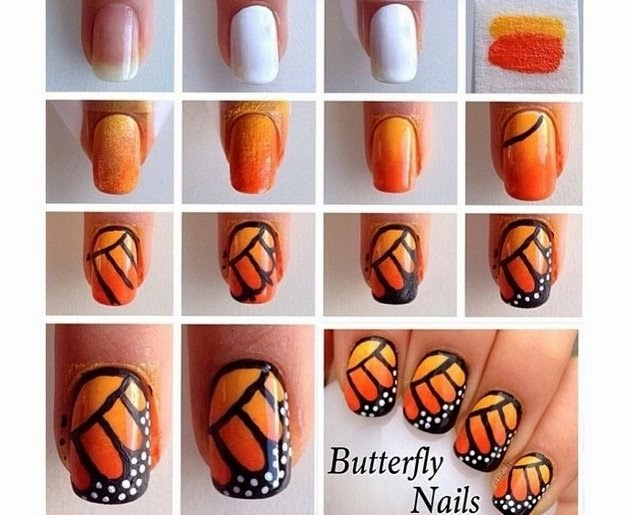Awesome Butterfly Nail Art Tutorial Entertainment News Photos