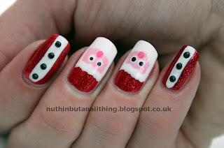 santa father christmas nails