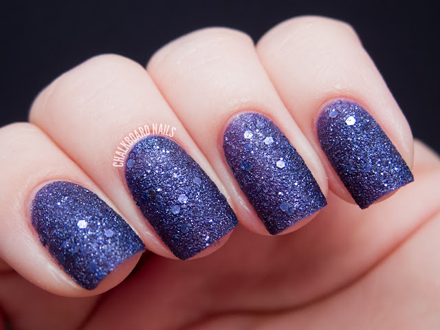 Chalkboard Nails: OPI Can't Let Go (Liquid Sand)