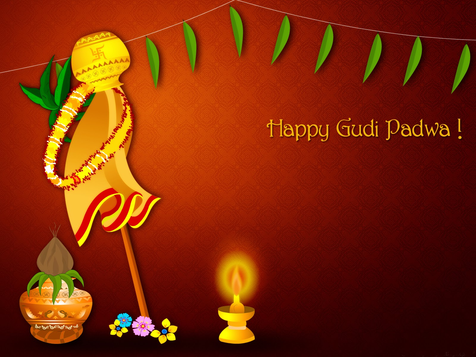 Gudi Padwa 2014 Images red background