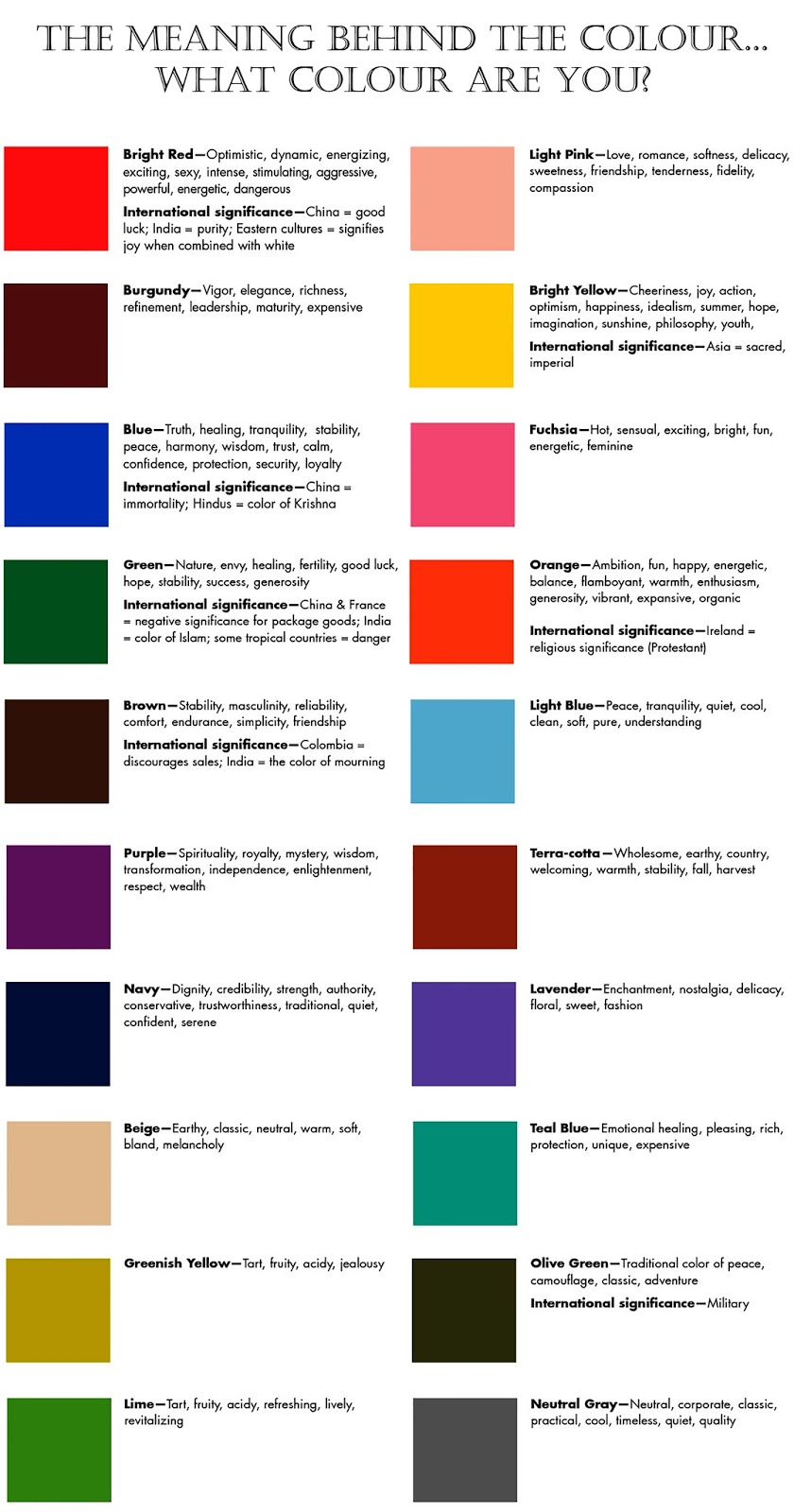 Color Meanings Chart Morenpulsar