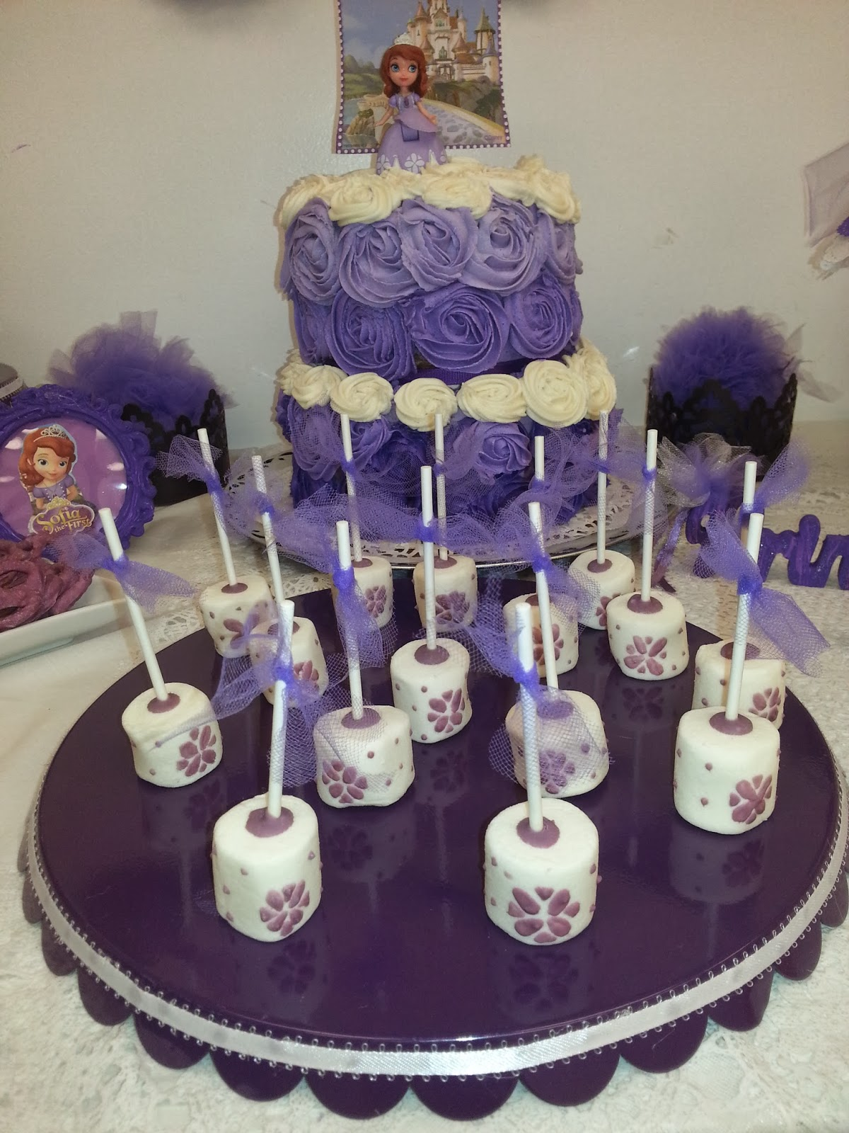 Sofia The First Cake Pops