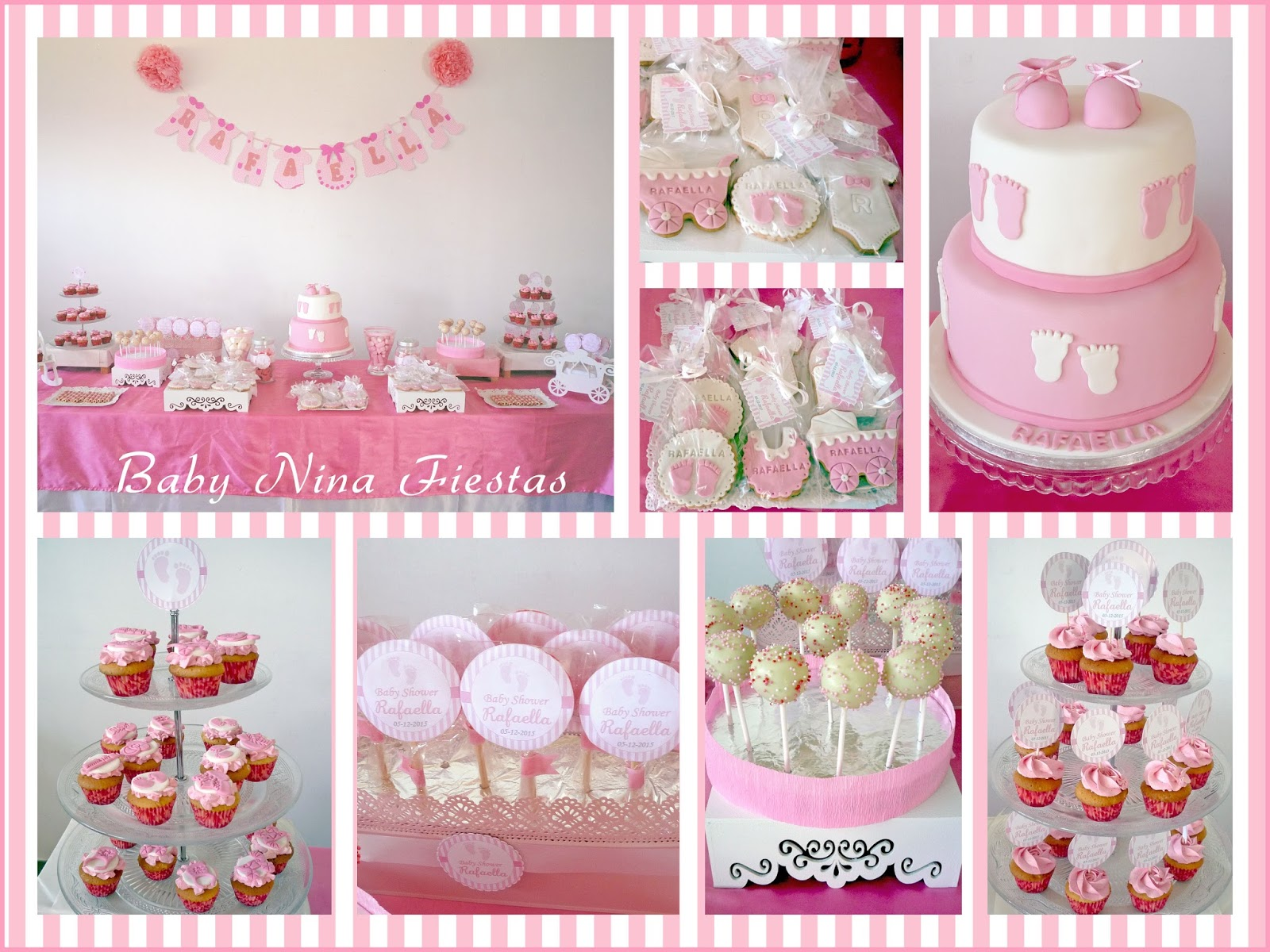 Baby nina fiestas baby shower rafaella - Decoracion fiesta rosa ...