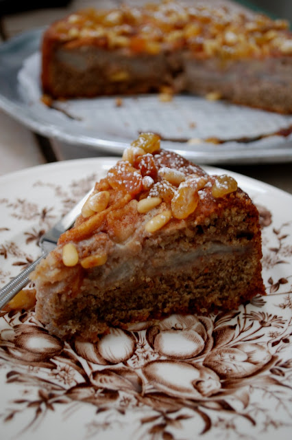 The Spice Garden: Pear and Pecan Cake with Embellishment