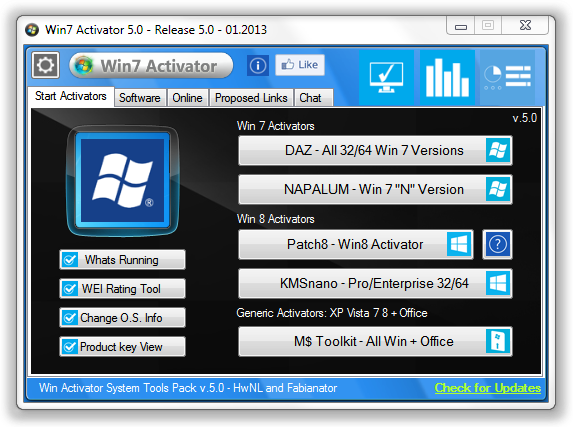 activator windows 7