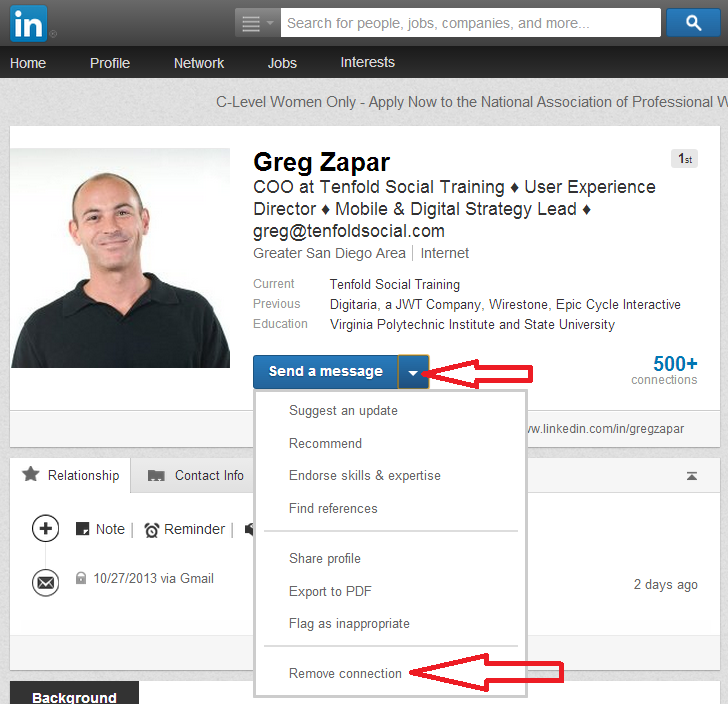how to cut a linkedin connection intelligent bacon