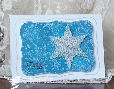 Our Daily Bread Designs, snowflake background, Sparkling Snowflakes, Cardinal Ornament