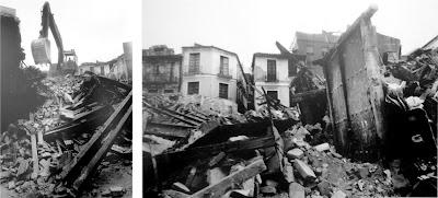 destrucción del Centro Histórico de Málaga, plaza de Camas, 1997