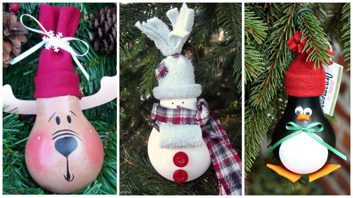 Como hacer adornos navide os con material reciclado - Crear christmas de navidad ...