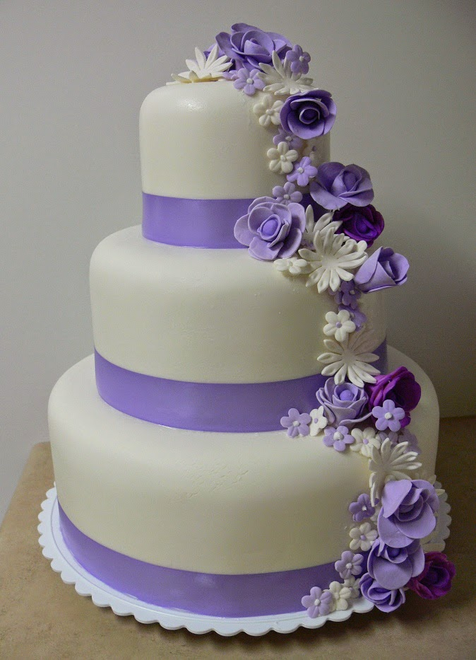 3 Tier Wedding Cakes 28 Spectacular JANUARY LAVENDER DREAMER with