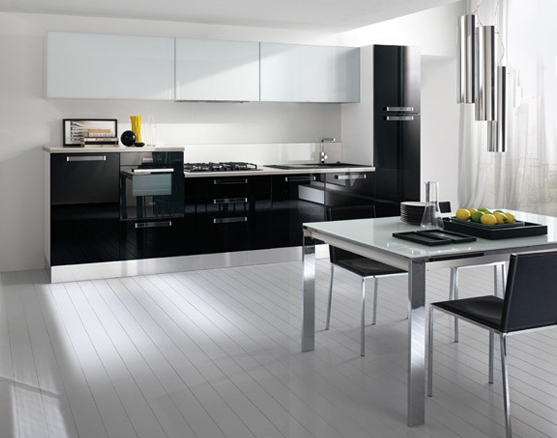 Cocinas lineales nada presuntuosas cocinas con estilo for Cocinas lineales